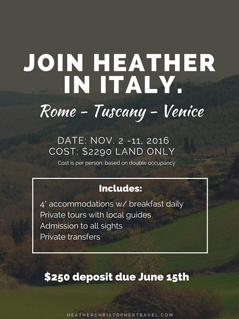 Join me in Italy this November! {Opening Week Discount!}