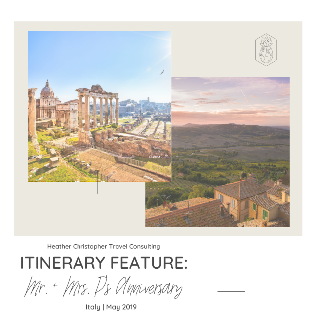 HCTC Itinerary Feature: Anniversary to Italy